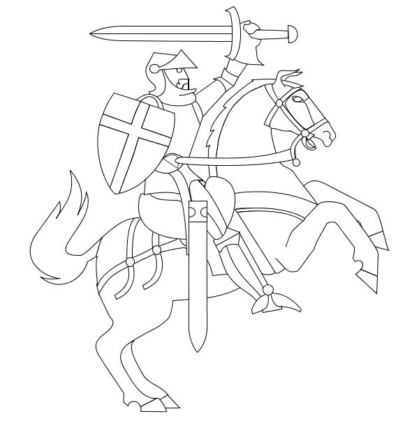 middle ages coloring pages - photo#18