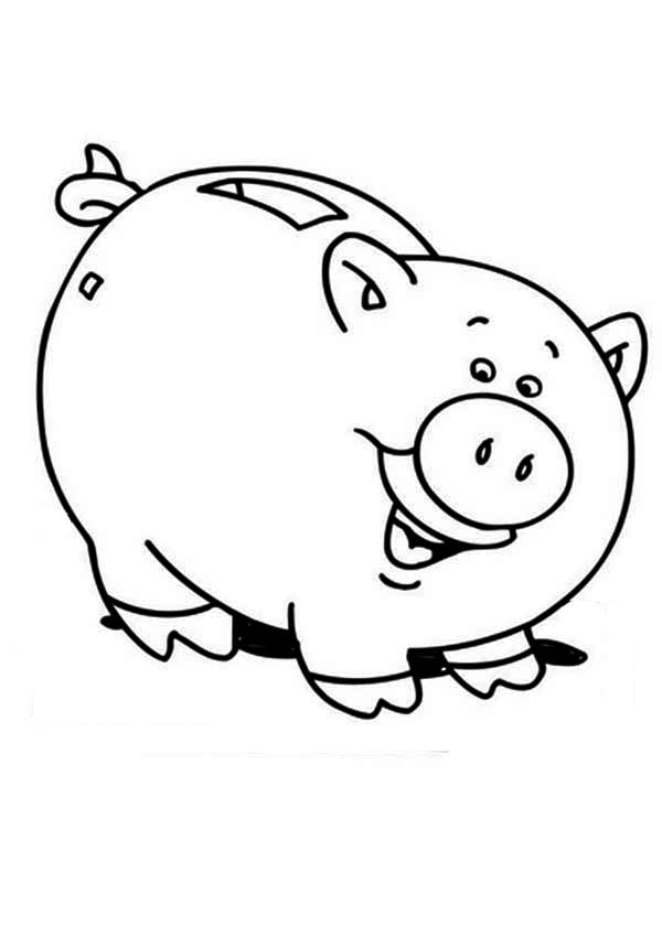 piggy bank coloring page piggy bank is laughing coloring page color luna