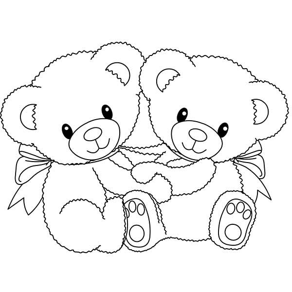 coloring pages teddy bear heart | Teddy Bear With Heart Coloring Pages Sketch Coloring Page