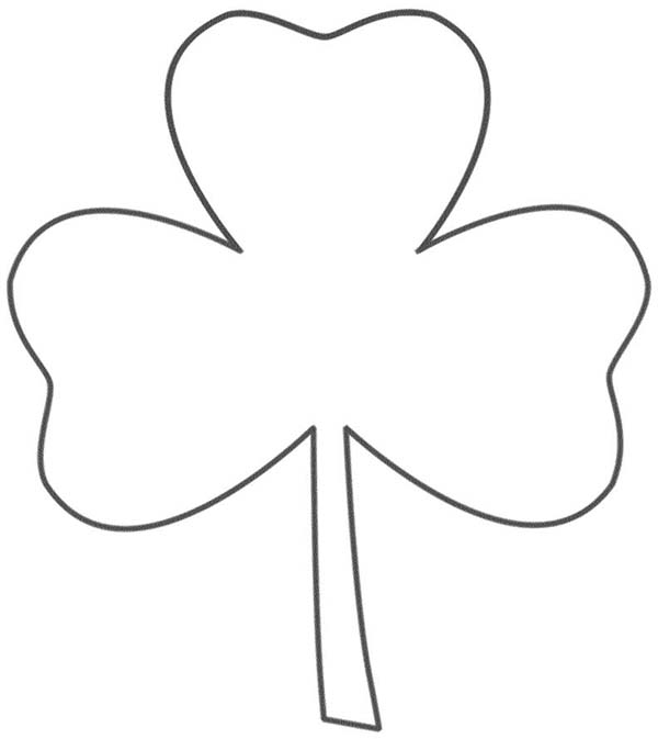 Four-Leaf Clover, : A Drawing of Three-Leaf Clover Coloring Page