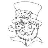 St Patricks Day, A Head Figure Of Leprechaun On St Patricks Day Coloring Page: A Head Figure of Leprechaun on St Patricks Day Coloring Page