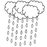 Raindrop, A Lot Of Raindrop Falling From The Sky Coloring Page: A Lot of Raindrop Falling from the Sky Coloring Page