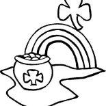St Patricks Day, A Pot Of Gold On St Patricks Day Coloring Page: A Pot of Gold on St Patricks Day Coloring Page