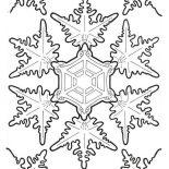 Snowflakes, Amazing Christmas Snowflakes Coloring Page: Amazing Christmas Snowflakes Coloring Page