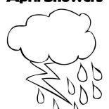 Raindrop, April Showers In Raindrop Coloring Page: April Showers in Raindrop Coloring Page
