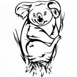 Koala Bear, Awesome Koala Bear Coloring Page: Awesome Koala Bear Coloring Page