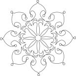 Snowflakes, Beautiful Christmas Snowflakes Coloring Page: Beautiful Christmas Snowflakes Coloring Page