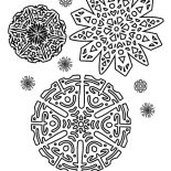 Snowflakes, Beautiful Snowflakes Pattern Coloring Page: Beautiful Snowflakes Pattern Coloring Page