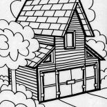 House, Big Barn House In Houses Coloring Page: Big Barn House in Houses Coloring Page