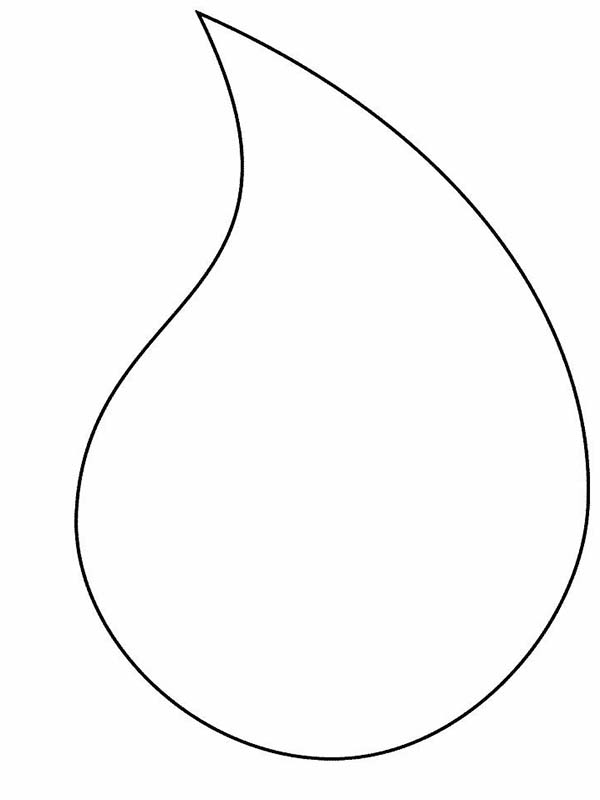Raindrop, : Big Raindrop Coloring Page