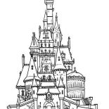 House, Castle Houses Coloring Page: Castle Houses Coloring Page