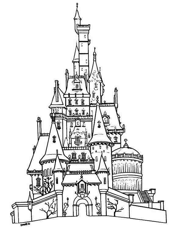 House, : Castle Houses Coloring Page