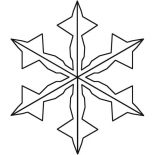 Snowflakes, Charming Snowflakes Coloring Page: Charming Snowflakes Coloring Page