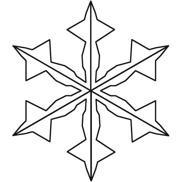 Snowflakes, : Charming Snowflakes Coloring Page