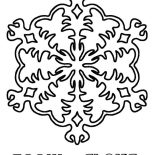 Snowflakes, Christmas Snowflakes Coloring Page: Christmas Snowflakes Coloring Page