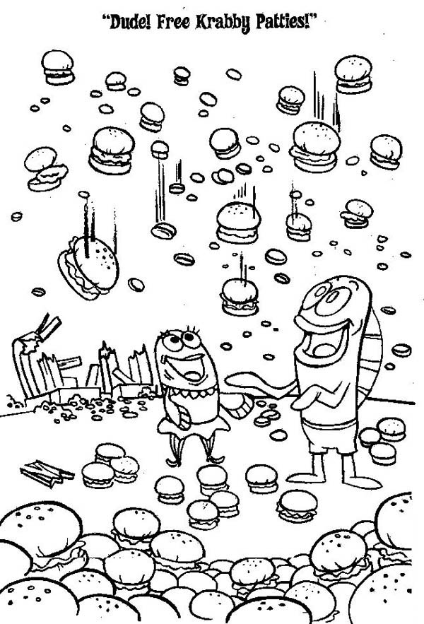 krusty krab coloring pages - photo#32