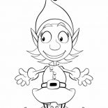 Elf, Cute Girl Elf Coloring Page: Cute Girl Elf Coloring Page