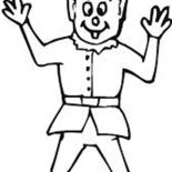 Elf, Elf Greeting Coloring Page: Elf Greeting Coloring Page