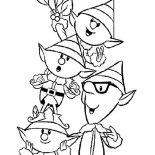 Elf, Elves Family In Elf Coloring Page: Elves Family in Elf Coloring Page