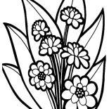 Flower Bouquet, Fancy Flower Bouquet Coloring Page: Fancy Flower Bouquet Coloring Page