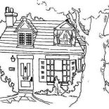 House, Farmer House In Houses Coloring Page: Farmer House in Houses Coloring Page