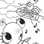 Spider, Female Spider On Spider Web Coloring Page: Female Spider on Spider Web Coloring Page