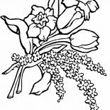Flower Bouquet, Flower Bouquet For Love Ones Coloring Page: Flower Bouquet for Love Ones Coloring Page