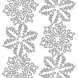 Snowflakes, Flower Snowflakes Coloring Page: Flower Snowflakes Coloring Page