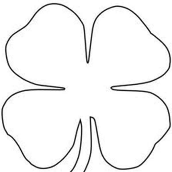 Four-Leaf Clover, : Four-Leaf Clover Sheats Coloring Page