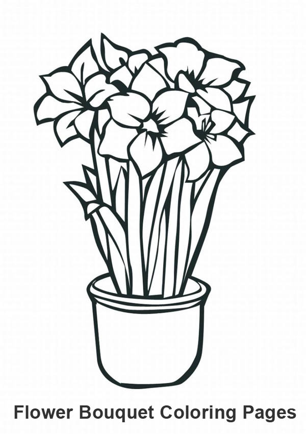 Flower Bouquet, : Growing Flower for Flower Bouquet Coloring Page