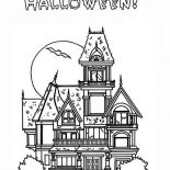 House, Halloween Haunted House In Houses Coloring Page: Halloween Haunted House in Houses Coloring Page