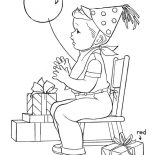 Happy Birthday, Happy Birthday Boy And A Lot Of Present Coloring Page: Happy Birthday Boy and a Lot of Present Coloring Page