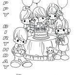 Happy Birthday, Happy Birthday Party Coloring Page: Happy Birthday Party Coloring Page