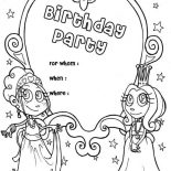 Happy Birthday, Happy Birthday Party Invitation Coloring Page: Happy Birthday Party Invitation Coloring Page