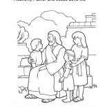Jesus Loves Me, Heavenly Father And Jesus Love Me Coloring Page: Heavenly Father and Jesus Love Me Coloring Page