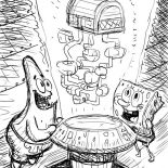 Krusty Krab, Holigraphic Of Krusty Krab Coloring Page: Holigraphic of Krusty Krab Coloring Page