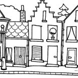 House, Hometown House In Houses Coloring Page: Hometown House in Houses Coloring Page