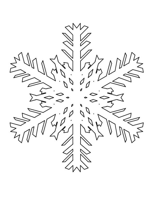 Snowflakes, : How to Draw Snowflakes Coloring Page