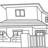 House, Japan Common Houses Coloring Page: Japan Common Houses Coloring Page
