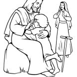 Jesus Loves Me, Jesus Come To Earth To Help People Everywhere And Jesus Love Me Coloring Page: Jesus Come to Earth to Help People Everywhere and Jesus Love Me Coloring Page