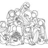 Jesus Loves Me, Jesus Love All Of Us And Jesus Love Me Coloring Page: Jesus Love All of Us and Jesus Love Me Coloring Page