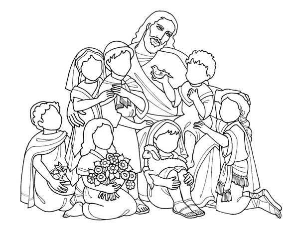 Jesus Loves Me, : Jesus Love All of Us and Jesus Love Me Coloring Page