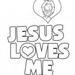 Jesus Loves Me, Jesus Love Me Sticker Coloring Page: Jesus Love Me Sticker Coloring Page