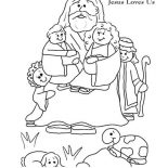 Jesus Loves Me, Jesus Love Me And Jesus Love Us Picture Colorig Page Coloring Page: Jesus Love Me and Jesus Love Us Picture Colorig Page