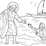 Jesus Loves Me, Jesus Love Me And Other People Coloring Page: Jesus Love Me and Other People Coloring Page
