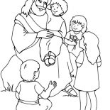 Jesus Loves Me, Jesus Love Me And The Other Children Too Coloring Page: Jesus Love Me and the Other Children too Coloring Page