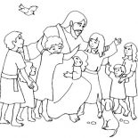 Jesus Loves Me, Jesus Loves Children And Jesus Love Me Coloring Page: Jesus Loves Children and Jesus Love Me Coloring Page