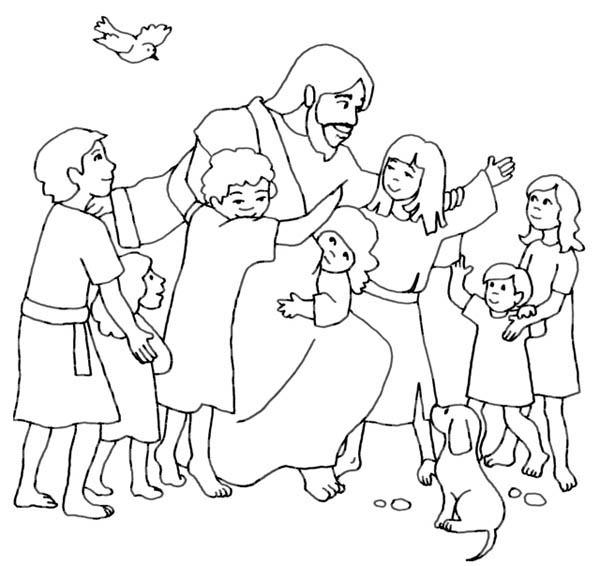 Jesus Loves Me, : Jesus Loves Children and Jesus Love Me Coloring Page