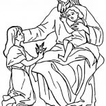 Jesus Loves Me, Jesus Loves The Children And Jesus Love Me Coloring Page: Jesus Loves The Children and Jesus Love Me Coloring Page