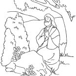 Jesus Loves Me, Jesus Praying For Us Because Jesus Love Me Colorig Page Coloring Page: Jesus Praying for Us Because Jesus Love Me Colorig Page